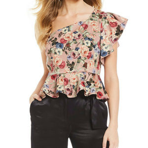 NEW $119 Gianni Bini XS Samantha Blouse ruffle